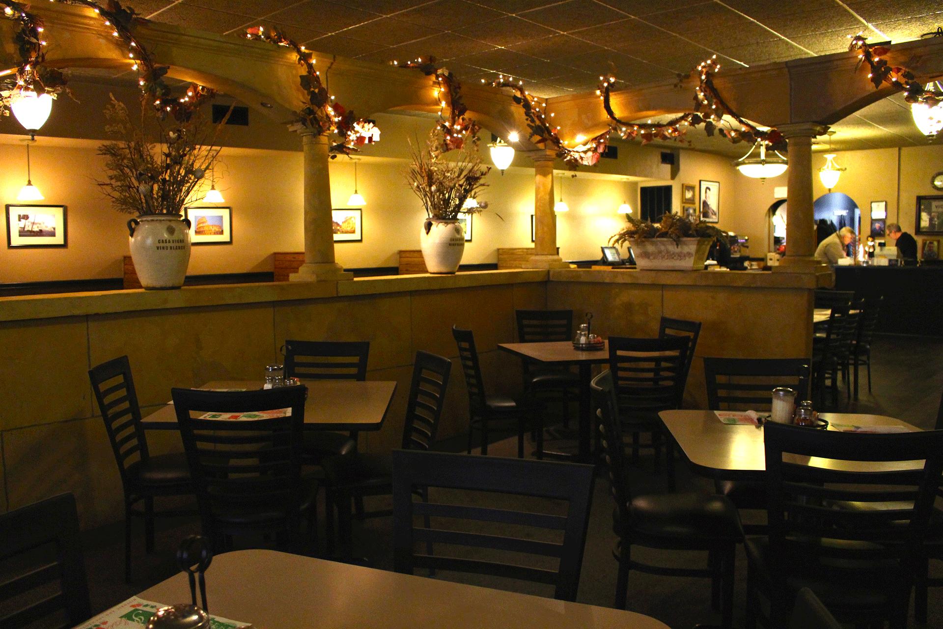 Mario's dining area