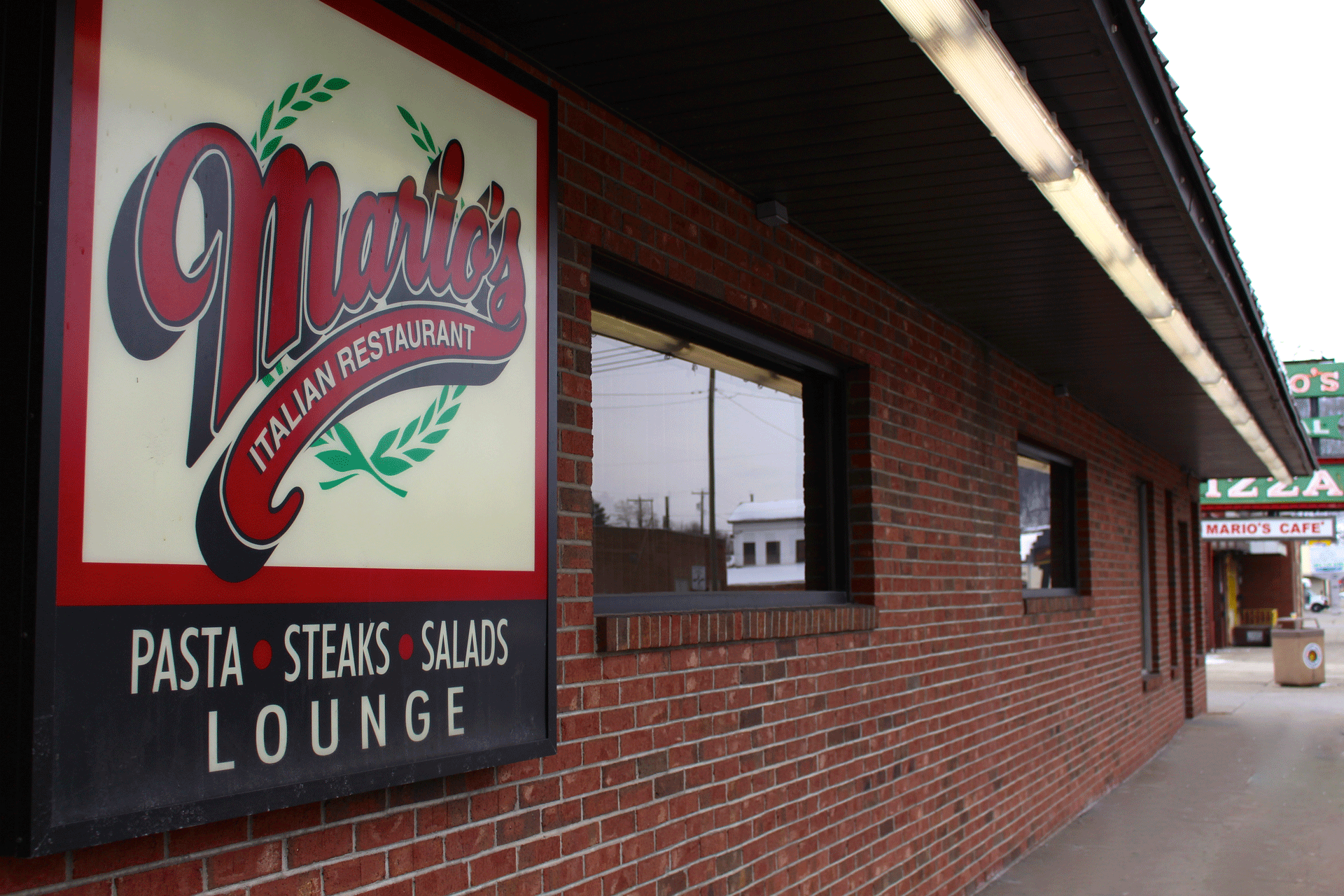 Outside of Mario's