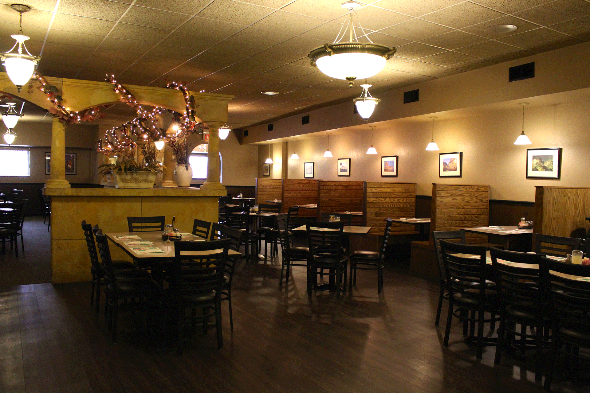 Maria's dining area with booths